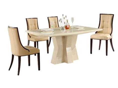 caprice marble dining table with 6 cassia chairs