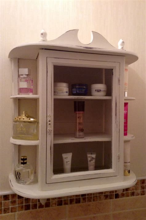 shabby chic bathroom cabinet home pinterest