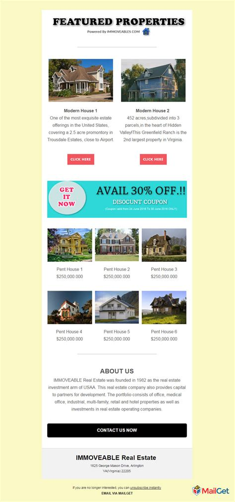Feature Packed 10 Free Real Estate Email Templates Mailget Free Real Estate Email Templates