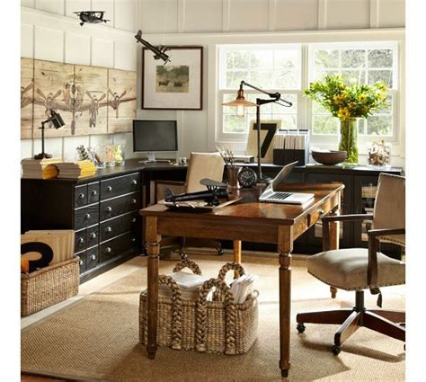Home Office Desk Pottery Barn The Layout Of This Room And The Organization Printer