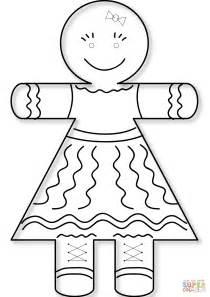 girl gingerbread man coloring pages раскраска пряничная девочка раскраски для детей печать