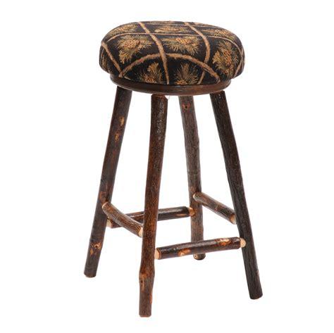 log bar stools fireside lodge hickory log pub table