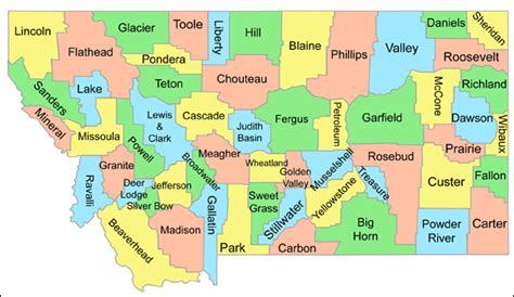 montana county map maps september 2012