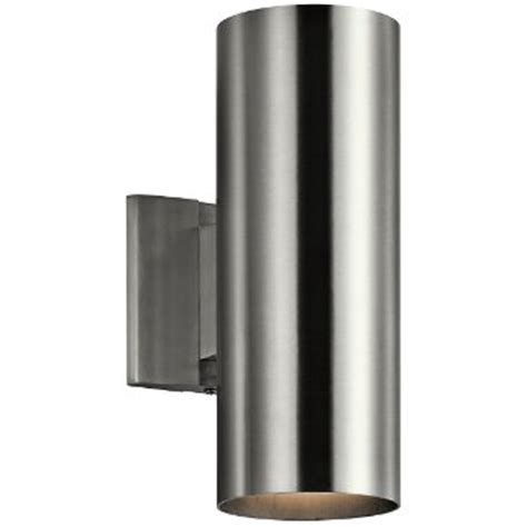 up down bronze cylinder outdoor wall light outdoor up down cylinder wall sconce by kichler at lumens com