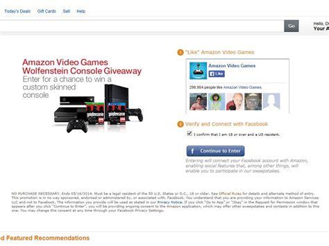 amazon video games wolfenstein console giveaway sweepstakes - Wolfenstein 2 Sweepstakes