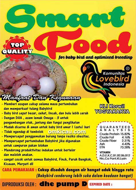 Pakan Lolohan smart food pakan lolohan untuk semua anakan burung om kicau