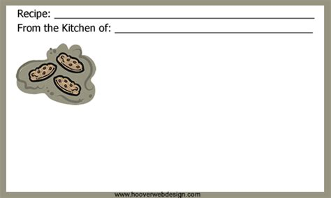 pudding recipe card template free recipe cards templates