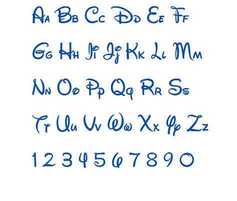 disney alphabet disney machine embroidery font monogram alphabet 3 sizes