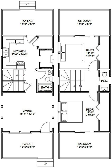 tiny houses floor plans 16x30 tiny house 16x30h6g 873 sq ft excellent