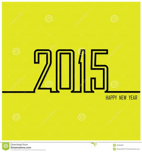 creative happy new year texts creative happy new year 2015 text design stock vector image 45094687