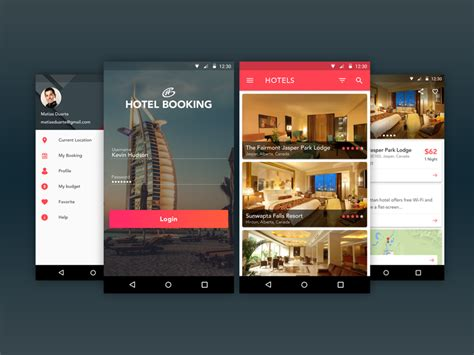 design hotels app hotel booking app uplabs