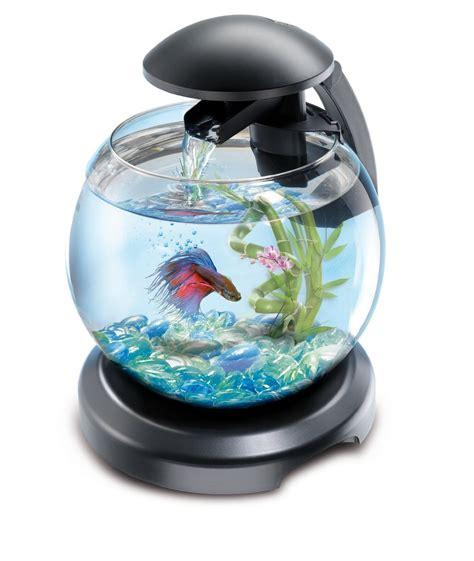 aquarium bowl design tetra cascade globe led light waterfall feature fish tank