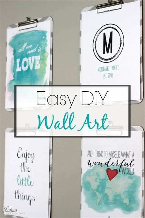 6 extremely easy and cheap diy wall decor ideas part 4 easy and inexpensive diy wall art