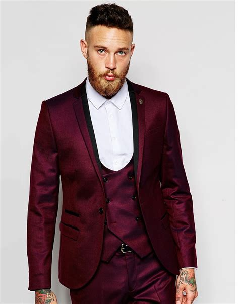 Popular Burgundy Suit Mens Buy Cheap Burgundy Suit Mens
