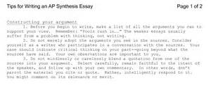 Exles Of Synthesis Essays by 2010yeagleyenglish Synthesis Essay Info