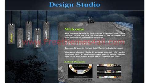 design studio templates photography studio design flash template free