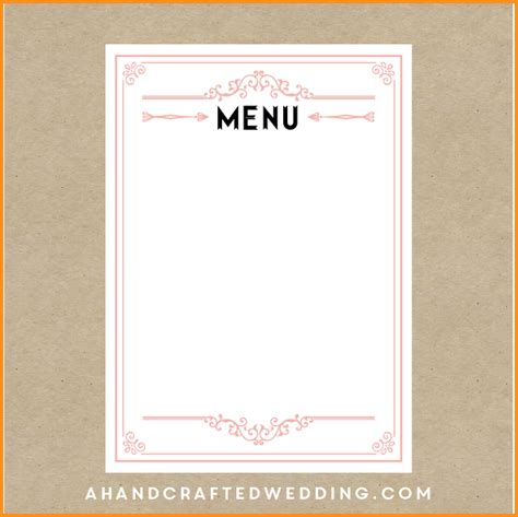 blank menu templates free 9 menu template mac resume template