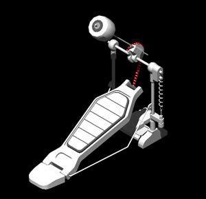 Kaos 3d Umakuka Bass Peddal bass drum pedal 3d dwg model for autocad designs cad