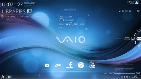 sony j20i themes free download sony vaio rainmeter desktop by ace7777 on deviantart