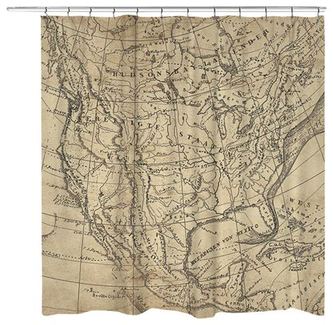 map fabric shower curtain laural home outlined map shower curtain shower curtains