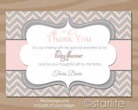 baby shower thank you card baby shower thank by