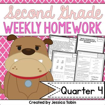Second Grade Science Homework Help by Homework Second Grade 4th Quarter By Tobin