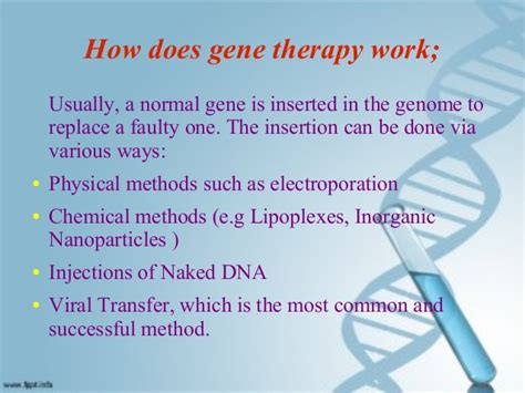 a for therapy work gene therapy