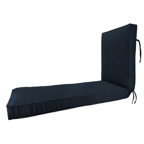 sunbrella chaise lounge cushion home decorators collection sunbrella canvas navy outdoor