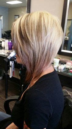 half head highlights on asymetrical bob asymmetrical quot rocker quot hair grow into this and cut the