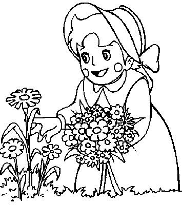 transmissionpress picking flowers kids coloring pages