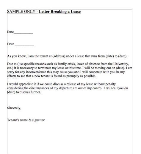 Breaking Lease Exle Letter 47 Eviction Notice Templates Sle Letters Free Template Downloads