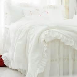 Luxury Lace Bedding Sets New White Ruffle Lace Bedding Set Luxury Princess