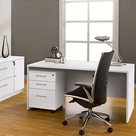 modern desks series 100 white 47 quot desk eurway