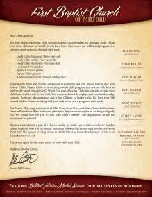 Church Welcome Letter Template by Club