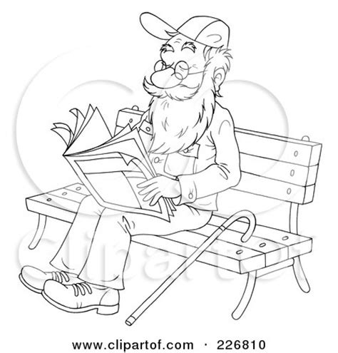 bench outline royalty free rf bench clipart illustrations vector