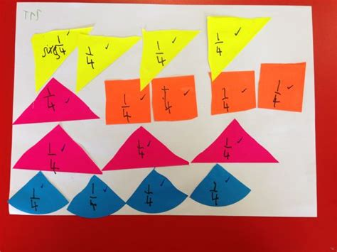 Paper Folding Fractions - fraction teaching ace