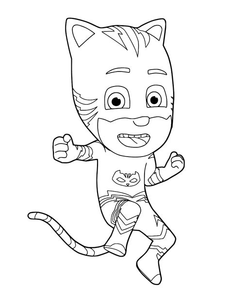 catboy pj masks coloring pages pj masks catboy ready for action