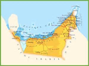 road map of united arab emirates