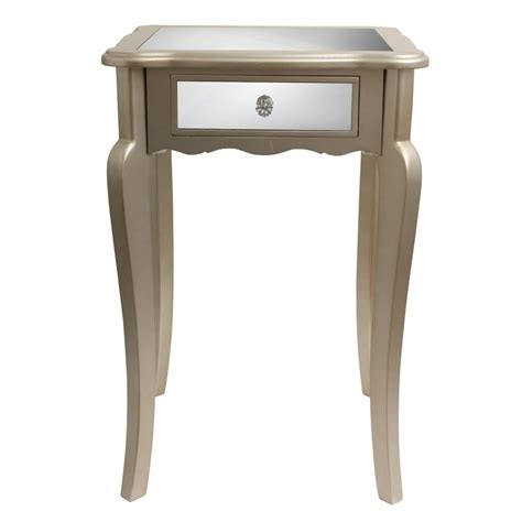 decor therapy end table decor therapy mirrored end table fr1793 the home depot