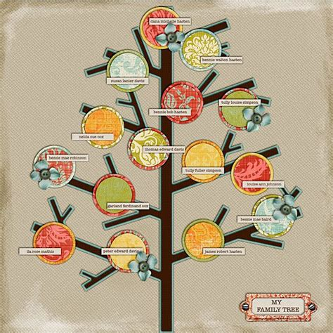 family tree scrapbook templates 108 best images about family tree template on