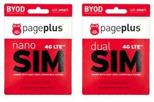 page plus sim card page plus 4g lte sim cards