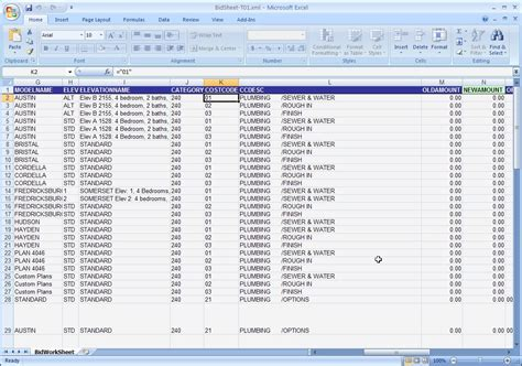 House Building Budget Spreadsheet by Excel Home Construction Budget Template Cost