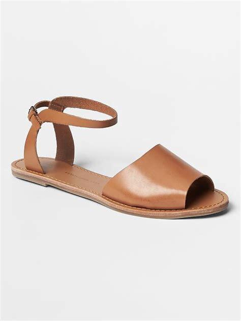 gap sandals gap classic leather sandals shopstyle