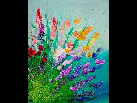 painting acrylic flowers a z live finger painting flowers splatter abstract acrylic for
