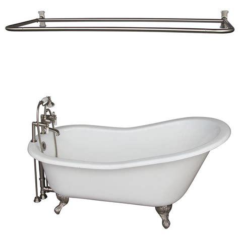5 foot cast iron bathtub aqua eden 5 ft cast iron polished chrome claw foot