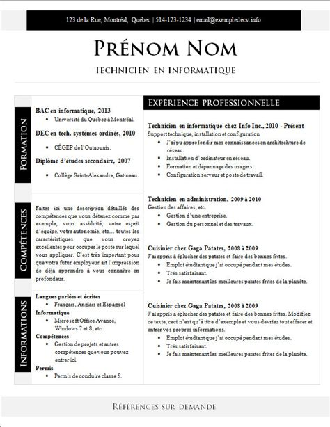 Des Modèles De Cv by Chacun Des Mod 195 168 Les Words Gratuits De Ces Exemples De Cv