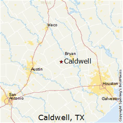 map of caldwell texas best places to live in caldwell texas