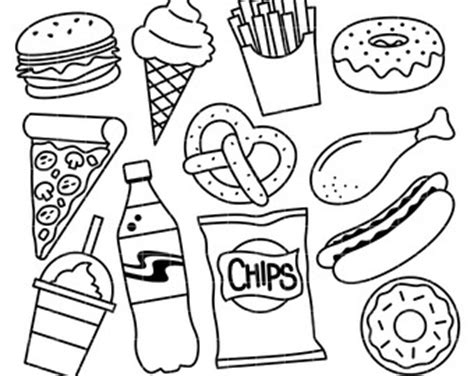 white food coloring junk food clip coloring pages junk best free