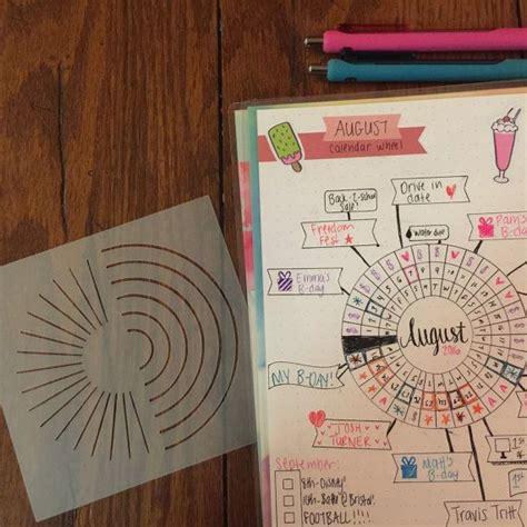 printable bullet journal stencils calendar wheel bullet journal stencil a barnwood boutique