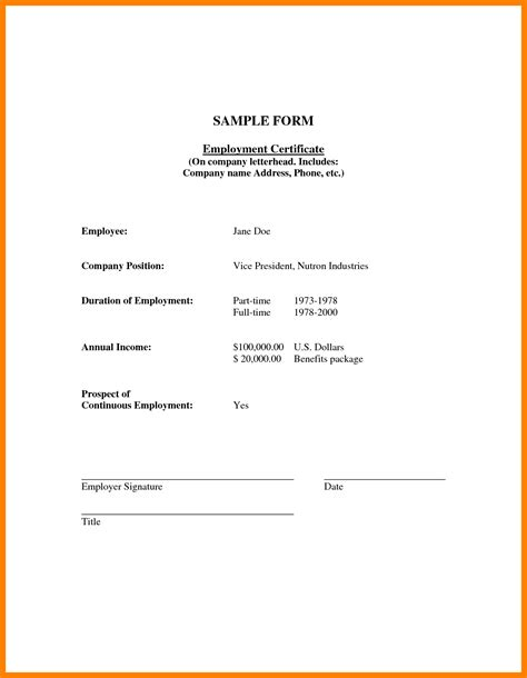 Sample Resume Format In Australia by 4 Certificate Of Employment With Compensation Fancy Resume